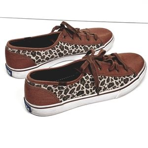 KEDS brown and animal printed sneaker shoe
